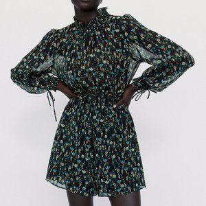 NEW Zara Mock Neck Printed Shorts Romper Jumpsuits